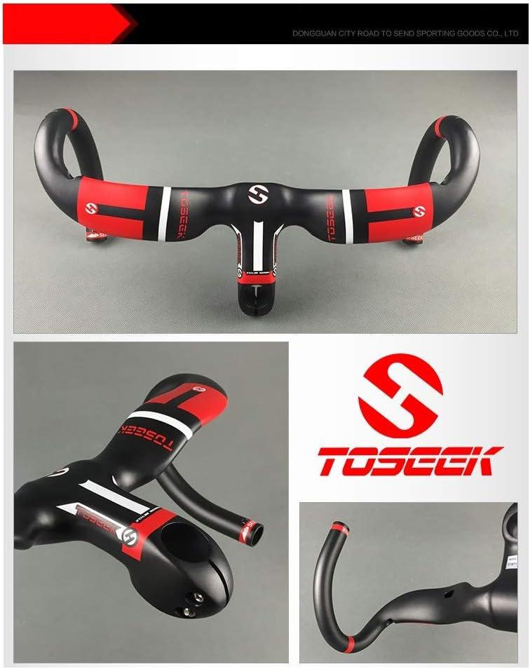 Carbon Road Bike Handlebar UD Cyclocross Racing Drop Integrated Bar with Stem