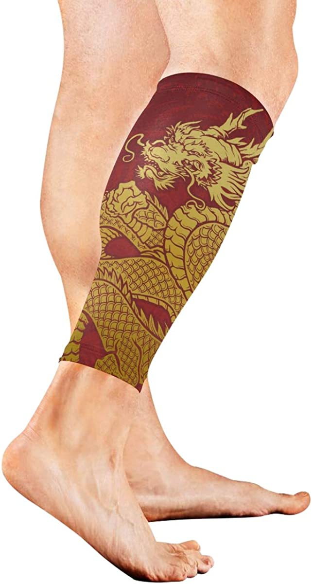 Glod Dragon Sports Compression Leg Sleeves 1 Pair - 2 Sleeves Cooling Sun Protection Youth & Adult Sizes Football Baseball Basketball Cycling Tennis