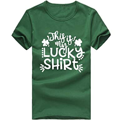 6c9029d7 Image Unavailable. Image not available for. Color: Dainzuy T-Shirt Tops for St.  Patrick's Day ...