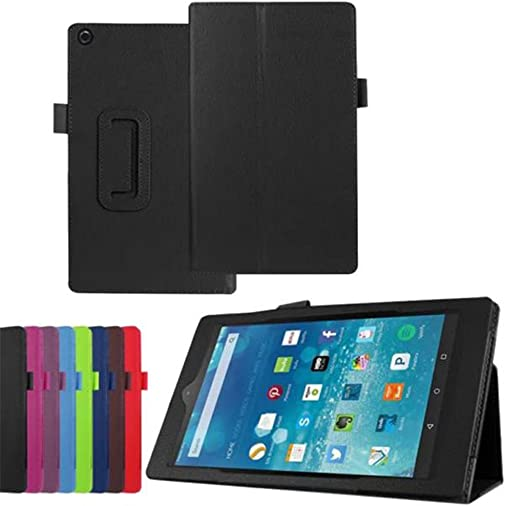 Case for All-New Amazon Fire HD 8 2016 6th Generation , Gotd PU Leather Protective Case Folio Stand Cover Shell For Amazon Kindle Fire HD 8 Tablet 6th Gen, 2016 Release Only Black