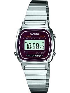 Casio LA670WEA-4EF - Reloj digital de cuarzo para mujer con correa de acero  inoxidable ae93c3d9b6c5