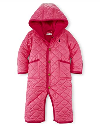 2cdb82475 Amazon.com  Ralph Lauren Polo Baby Girls Quilted Bunting (9 Months ...