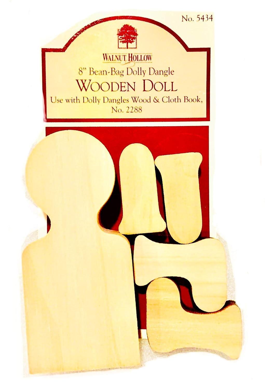 Walnut Hollow 8-Inch Bean Bag Wooden Doll Kit 5434 Dolly Dangle