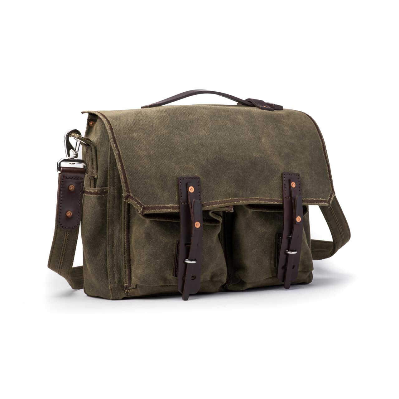 Saddleback Leather Canvas Front Pocket Gear Bag - Messenger Bag with 100 Year Warranty