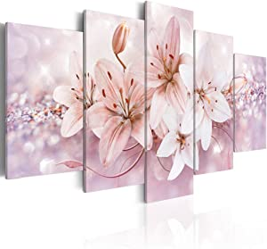 Abstract Flower canvas wall art Canvas Print Wall Decal Painting Home Decor Decorations Bedroom Office Artwork Large (C, overall size 40''x20'')