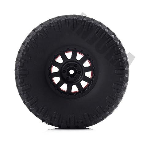 INJORA 4PCS 2.2 Llantas de Goma y llanta de Rueda Beadlock para 1/10 RC Rock Tractor Axial SCX10 Wraith RR10 Yeti: Amazon.es: Juguetes y juegos