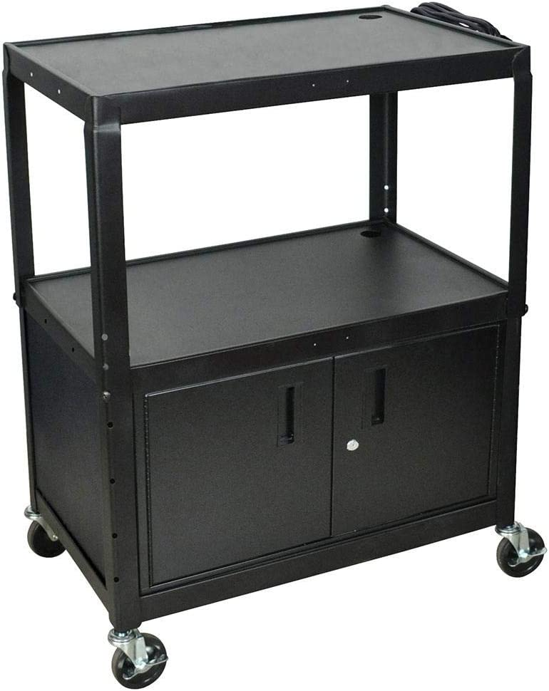 "LUXOR AVJ42XLC Locking Cabinet, 42"" H x 32"" W x 20"" D, Black,Large"