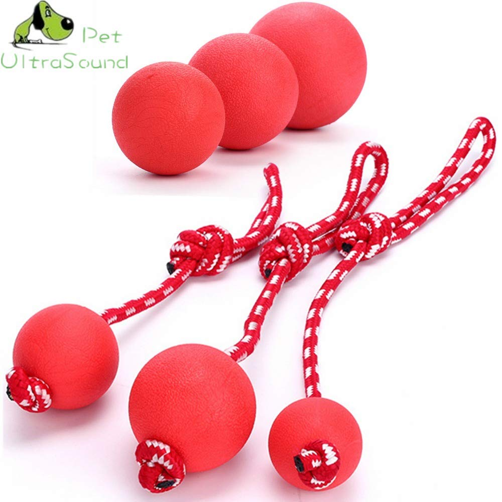 Ultrasound PET Dog Rubber Toy Chew Ball Squeaky Dog Toys for Dogs Dental Bites Queaker Cleaning Toy Balls Pet Training Supplies