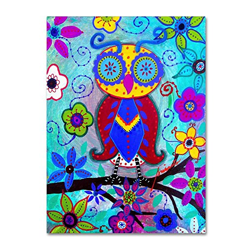 The Judicious Owl by Prisarts,  Canvas Wall Art