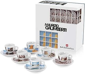 Illy 6 Tazas de café Espresso Maurizio Galimberti: Amazon.es: Hogar