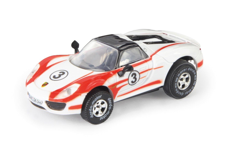 Darda Auto Porsche 918 Spyder Weissach Salzburg Racing Design wei/ß // rot ca 8 cm Darda 50344 Fahrzeug mit Motor zum Aufziehen f/ür Kinder ab 5 Jahre Rennauto mit auswechselbaren R/ückzugsmotor