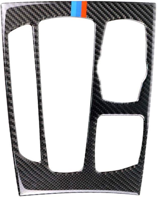 Classic Carbon Fiber Dashboard Gear Box Panel Frame Decal Cover Trim for BMW X5 X6 F15 F16 2014-2017 6DW