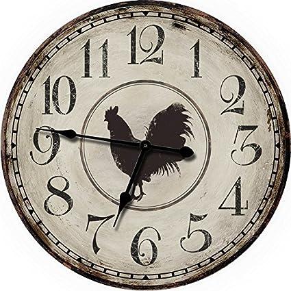 """24 """"pollo granja grande reloj de pared relojes de pared de gran tamaño Reloj"""