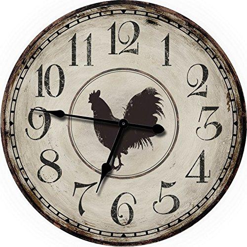 "24"" Chicken Farm Large Wall Clock Oversized Wall Clocks Decorative"