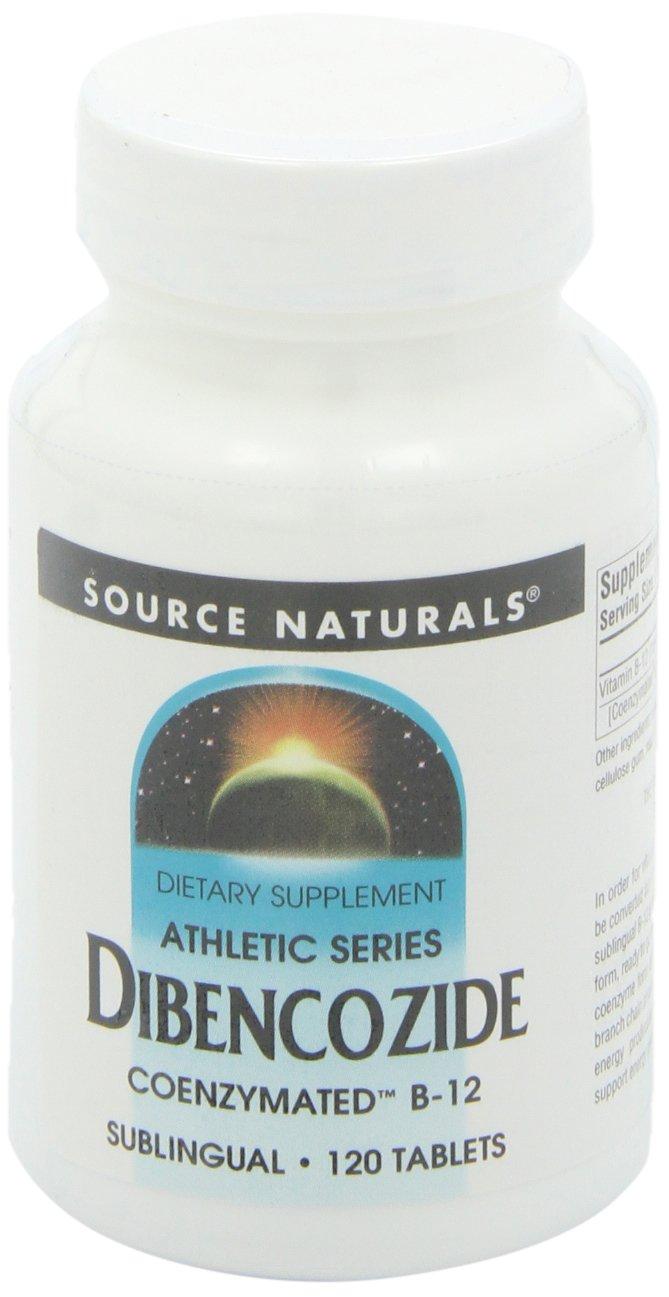 Source Naturals Dibencozide Sublingual, Primary Coenzyme form of Vitamin B-12,120 Tablets