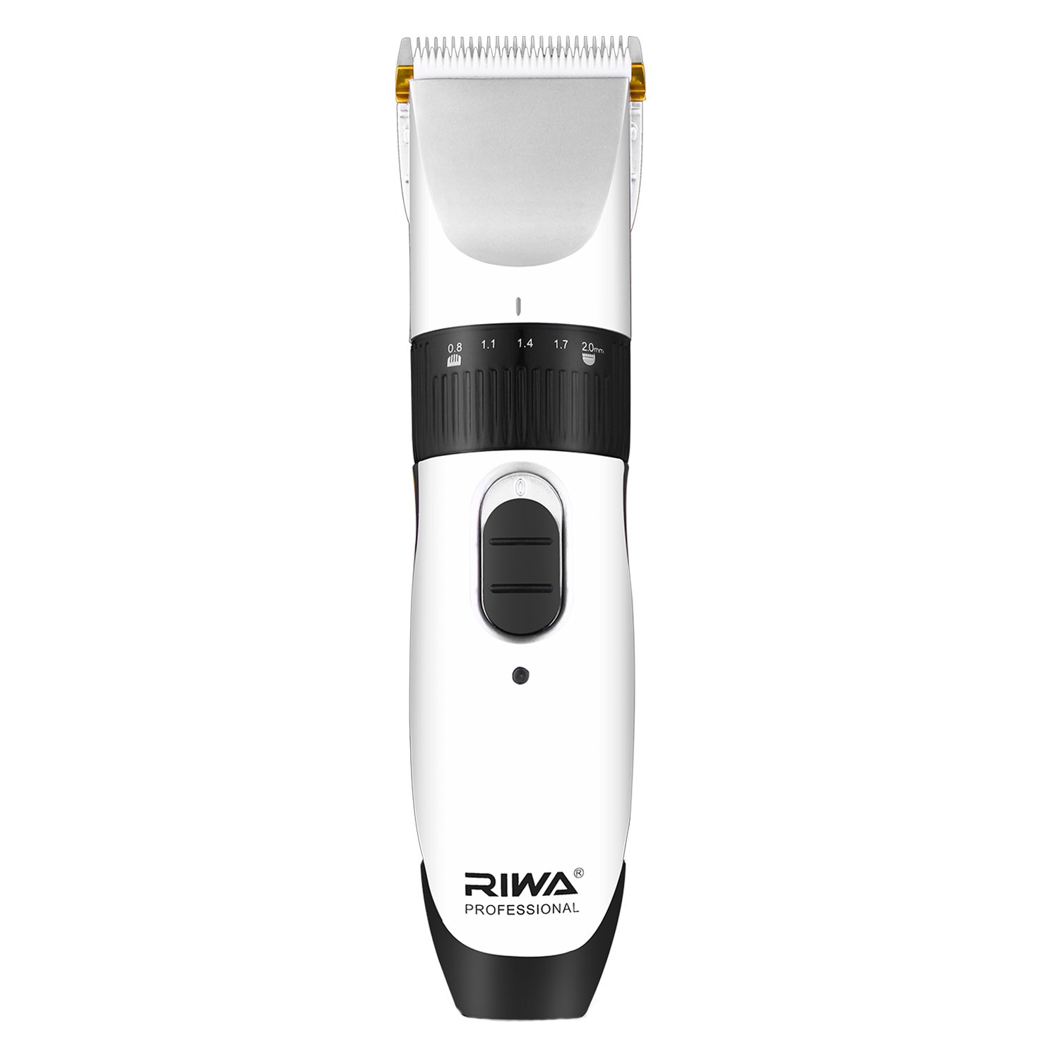 Riwa RE-539C Electric Hair Clipper, Cordless/Corded Hair Cutting Kit Beard Trimmer with 2 Back-up Batteries