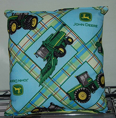 """John Deere Pillow Tractor Pillow HANDMADE In USA Pillow is approximately 10"""" X 11"""""""