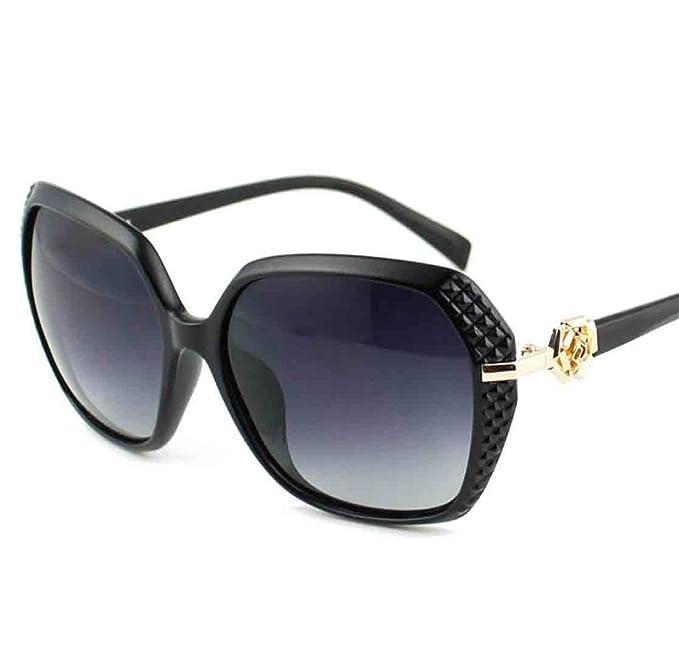 Gafas De Sol Polarizadas UV400 De Las Mujeres Gafas De Sol Grandes De La Tela Escocesa