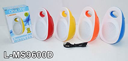 ae752d2139a Image Unavailable. Image not available for. Colour: Onlite L-MS9600 Portable  Plastic Bluetooth ...