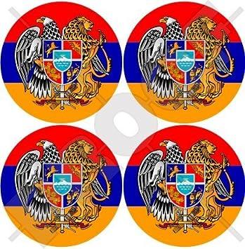 Stickers x4 Arm/énie Arm/énien Hayastan Shield 50/mm bumper-helmet en vinyle autocollants 5,1/cm
