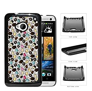 Assorted Cupcakes And Crumbs Hard Plastic Snap On Cell Phone Case HTC One M7