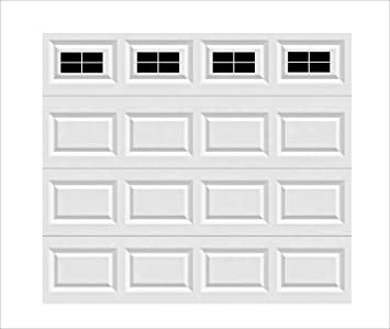32 Pcs Household Easy Installation Magnetic Windows Panels for Car Garage Door Panes Fake Faux Magnetic Windows Decorative Hardware 2 Car Garage Kits Size 6.125 X 4
