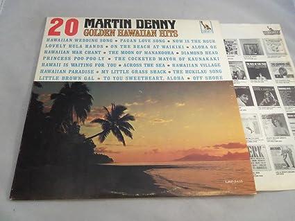 Martin denny golden hawaiian hits vinyl lp liberty lrp