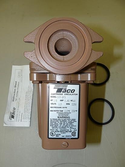 Taco 009-BF5 High Velocity Cartridge Circulator (Bronze) - - Amazon com