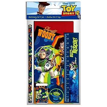 GUIZMAX Set Escolar Toy Story Regla Cuaderno Lápiz Borrador ...