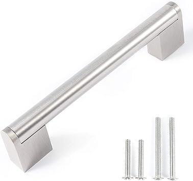 Fulgente 9 Stück Satinierter Nickel Möbelgriffe, 9mm Edelstahl