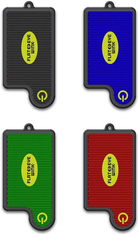 FLATEYE WINK Mini LED Flashlight - Lightweight, Super Small, Super Bright, Keychain Style Flashlight (4 Pack)
