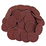 SODIAL 50Pcs 120 Grit 2 inch Roloc Roll Lock Sanding Grinding Discs for Polishing Abrasive