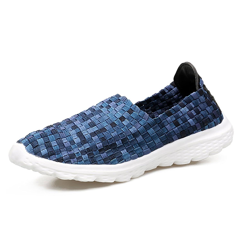Men's Ultra Lightweight Comfort Woven Elastic Woven Anti-Slip Slip On Loafer Shoes