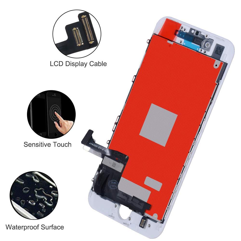 Retina Ecran Tactile avec Kit Outils de R/éparation LCD Vitre Tactile 3D Touch /Écran de Remplacement pour iPhone 6s 4.7 Pouces KeepTop Ecran pour iphone 6s Noir Black