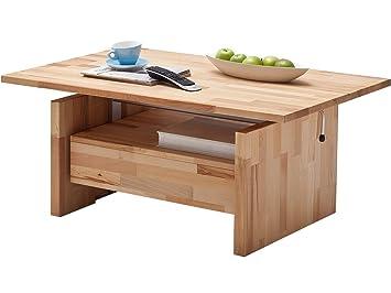 Couchtisch Mit Liftfunktion Wohnzimmertisch Couchtisch Tisch Massivholz Titus