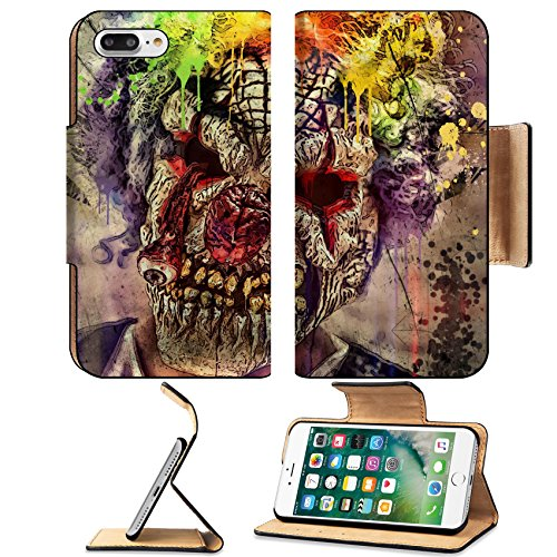 Images Of Scary Clowns (MSD Premium Apple iPhone 7 Plus Flip Pu Leather Wallet Case IMAGE ID 30548880 scary clown)