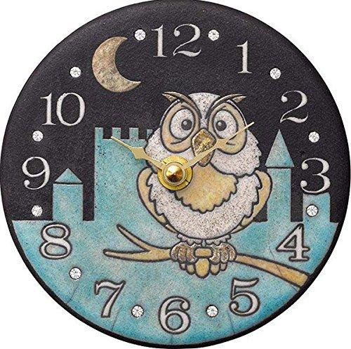 リズム時計工業 Zaccarella クオーツ掛け置き兼用時計 ザッカレラZ925 ZC925-004 置用金具付 クリスタル イタリア製陶器枠 アナログ   B071WYN38Y