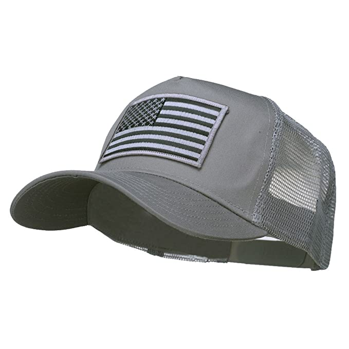 E4hats American Flag Patch Mesh Cap - Grey OSFM at Amazon Men s Clothing  store  Baseball Caps 78b7345a03