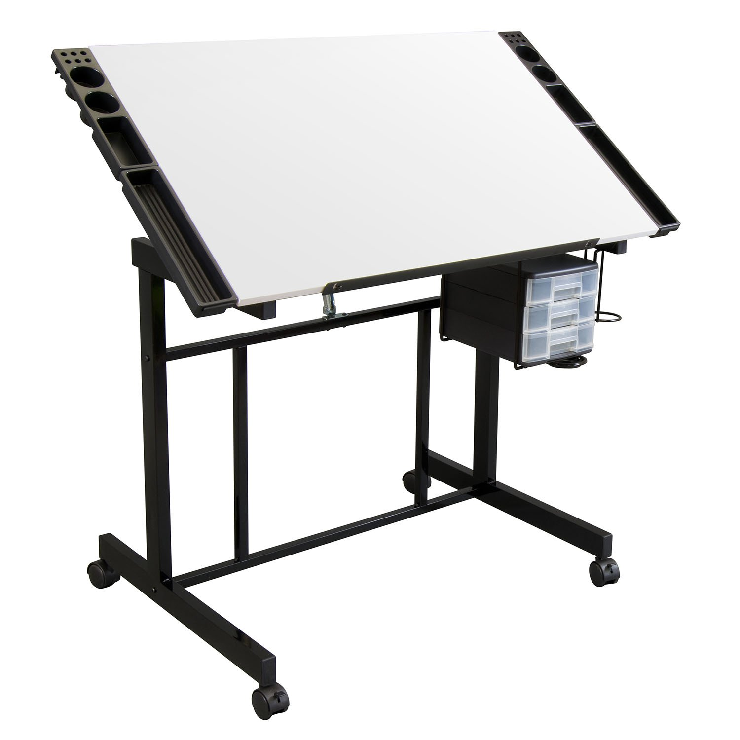 Offex Home Deluxe Craft Station - Black/White