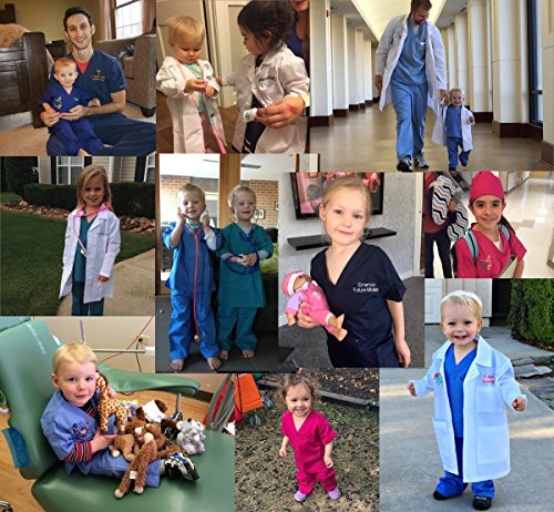 My Little Doc Personalized Kids Lab Coat, Size 7 by My Little Doc (Image #3)'