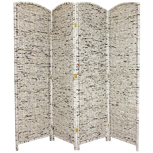 ORIENTAL Furniture 6-Feet Tall Recycled Newspaper Room Divider, 4 Panels ()
