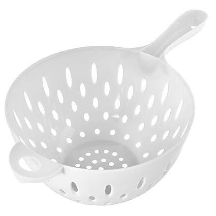 Una sola mano tensión de drenaje Colador sin BPA alimentación grado de  plástico ensalada Pasta cocina 1ef6db5193c7