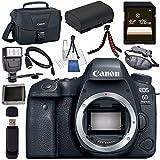 Canon EOS 6D Mark II DSLR Camera (Body Only) 1897C002 + LPE-6 Lithium Ion Battery + 128GB SDXC Card + Canon 100ES EOS shoulder bag + Tripod + Universal Slave Flash unit + Mini HDMI Cable Bundle