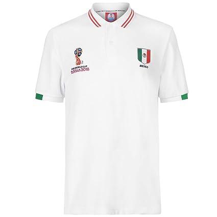 658752d70 FIFA World Cup 2018 Mexico Polo Shirt Mens White Football Soccer Top T-Shirt  Medium