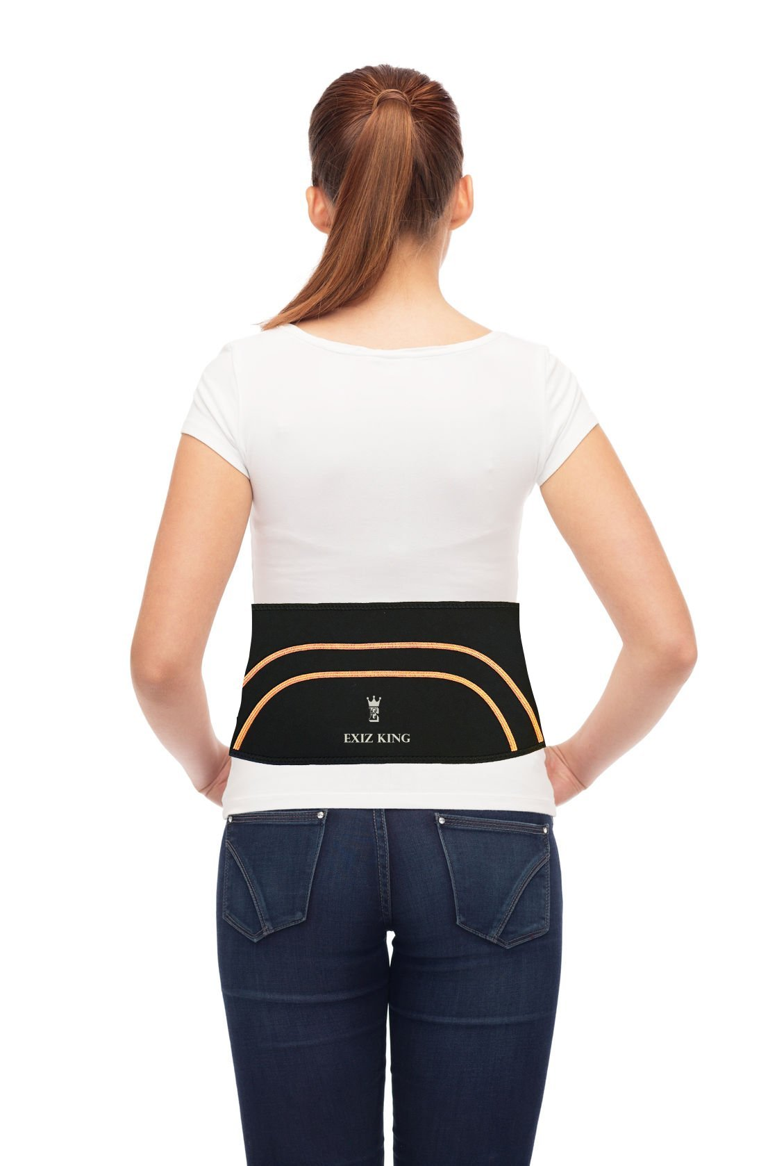 Exiz King Copper Back Fit Pro Waist Belt Provides Lower Back Support Compression Infuse Brace Belt Lumber Wrap - Back Pain Relief (L/XL(39''-50''))
