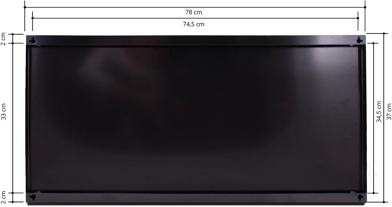 Metall Pinnwand banjado Design Magnettafel schwarz Memoboard mit Magneten und Montageset Motiv Jack Russell Wandtafel magnetisch 37x78cm gro/ß