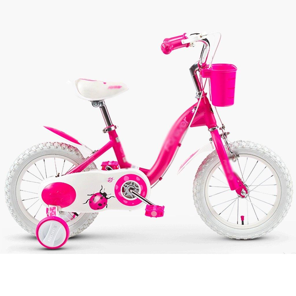 自転車 子供の自転車の女の子2-3-4-6-7-8-9-10歳の赤ちゃんのペダル自転車の子供の赤ちゃんのキャリッジ 14 inch  B07DYJKW93