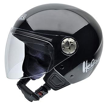NZI 050180G003 Helix IV Casco de Moto, Color Negro, Talla 58-59 (