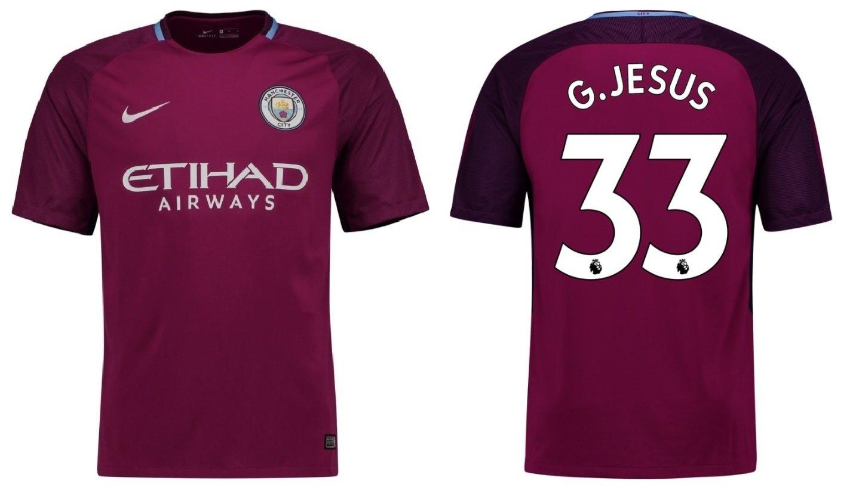 Trikot Kinder Manchester City 2017-2018 Away - G.Jesus 33