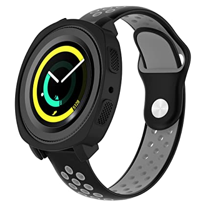 Amazon.com: MOTONG Samsung Gear Sport R600 Case - MOTONG Silicone Protective Case Cover Shell for Samsung Gear Sport (SM-R600) Smart Watch(Silicone Black): ...